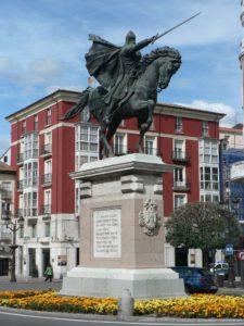 El monumento al Cid en la ciudad de Burgos